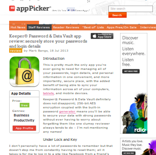 AppPicker Loves Keeper (And We Love Them, Too)