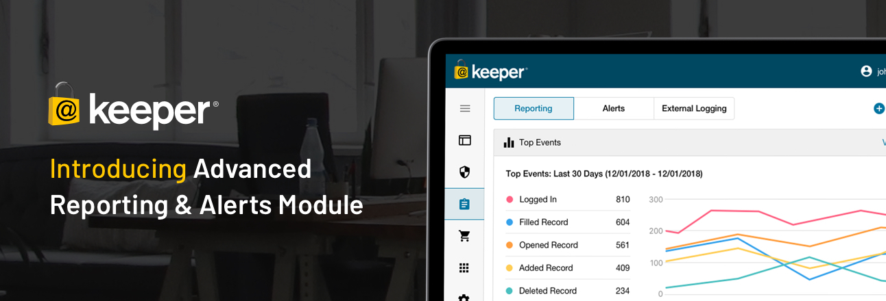 Keeper Adds Advanced Reporting & Alerts Module for Business & Enterprise Customers